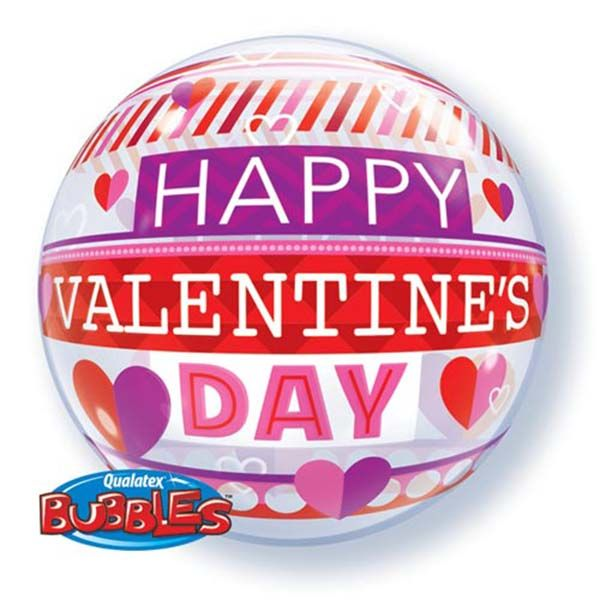 Bubble Ballon Happy Valentines Day Patroon