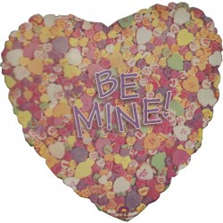 Be mine snoephart ballon