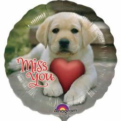 Miss You Puppy Ballon