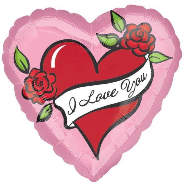 Folieballon Tattoo Love