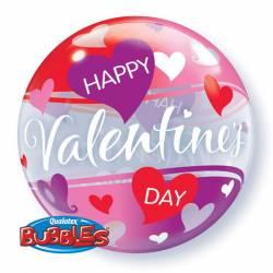 Bubble Ballon valentijn hartjes