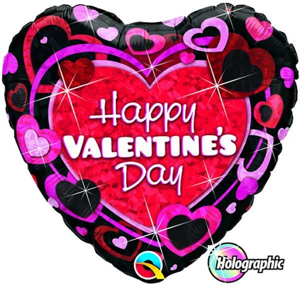 Happy Valentine's Day Kleur zwart-rood-roze