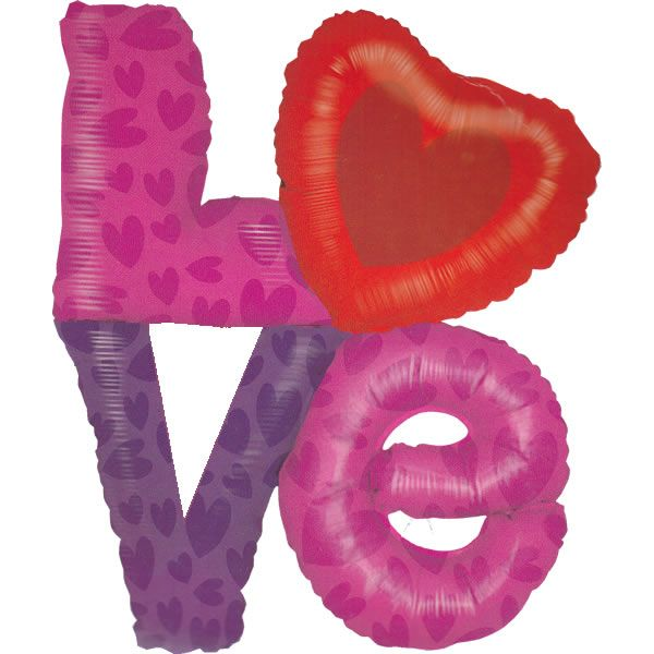 XL Folieballon Love