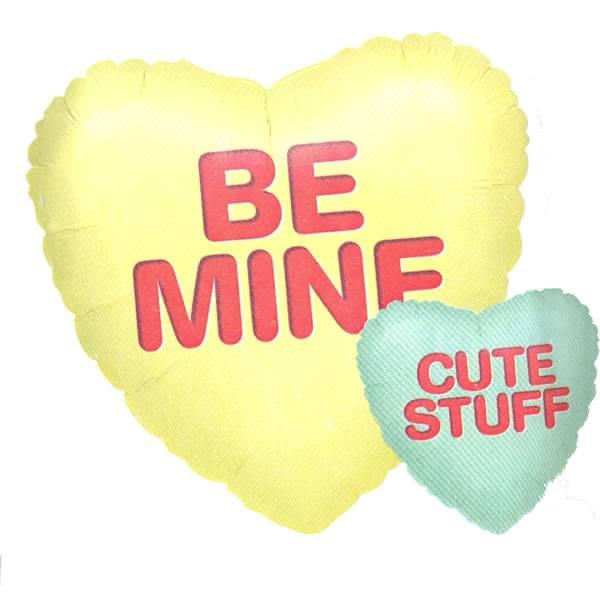 Ballon met de Tekst Be mine - Cute stuff