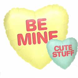 Ballon met de Tekst Be mine - Cute stuff