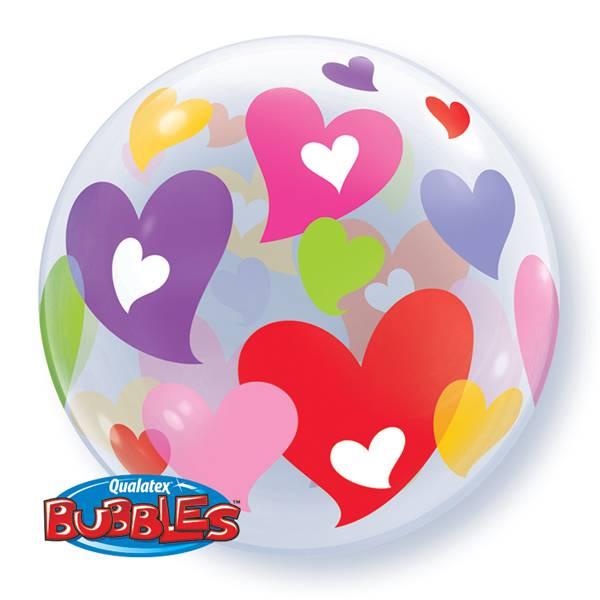 Bubble ballon hartjes