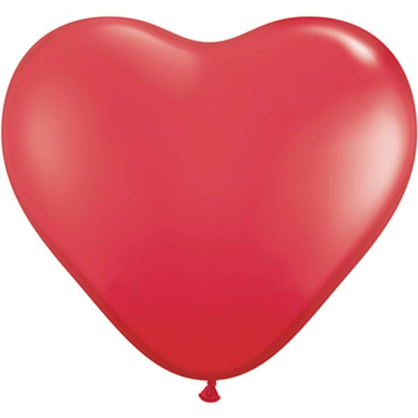 10 Stuks 6 inch (15 cm) Red Hartjes Qualatex Ballon