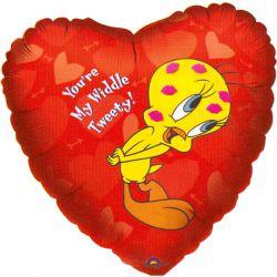 XL Folieballon Tweety en de Tekst: You're My Widdle Tweety