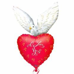 XL Ballon Liefdes duif I Love You