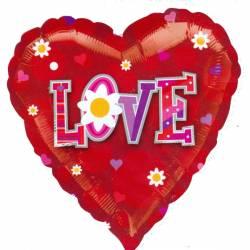 Love Ballon met Bloemen