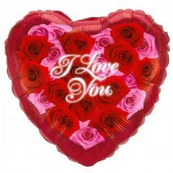 I love you Ballon met rozen
