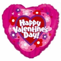 Happy Valentine's Day Hartvorm Bloemen