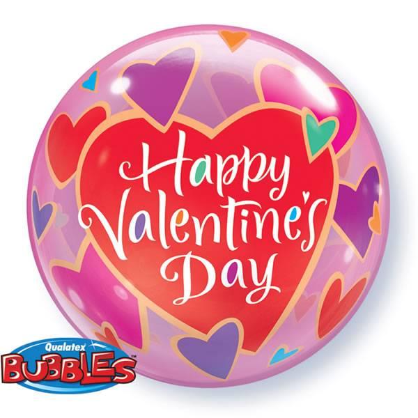 Bubble Ballon Happy Valentine's Day