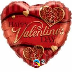 Folieballon met de Tekst: Happy Valentine's Day