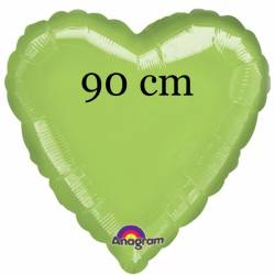 1 X 36 inch (circa 91 cm) FOLIEBALLON HART VORM appel groen